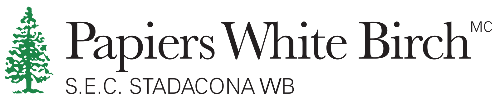 Papiers white birch logo